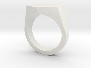 hexagon customizable ring in White Strong & Flexible