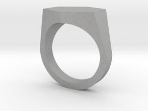 hexagon customizable ring in Aluminum