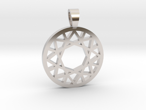 Brillant cut [pendant] in Rhodium Plated Brass