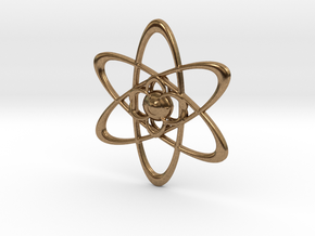 Atomic in Natural Brass