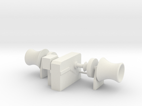 Anchor Winch 1/75 fits Harbor Tug in White Natural Versatile Plastic
