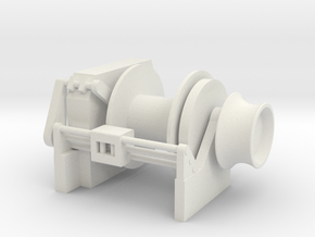 Tug Winch 1/75 fits Harbor Tug in White Natural Versatile Plastic