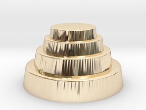 DRAW geo - terraced dome in 14k Gold Plated Brass: Small
