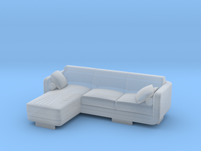 Sofa 2018 model 4 in Smooth Fine Detail Plastic: 1:108