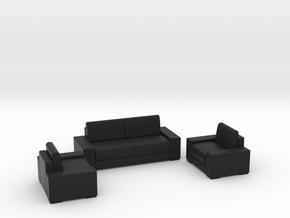 Sofa set 2018 model 1 in Black Natural Versatile Plastic
