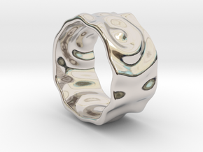 Ringpples Ring 2 in Rhodium Plated Brass