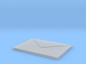 Envelope chopping board in Smooth Fine Detail Plastic