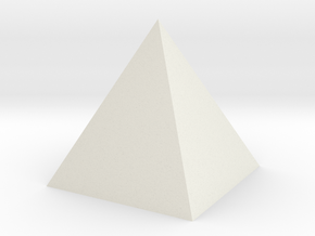 Pyramid Spike in White Natural Versatile Plastic