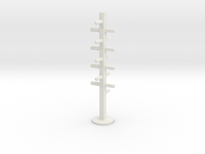 Hangers in White Natural Versatile Plastic: Medium