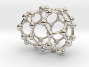0636 Fullerene c44-8 c1 in Rhodium Plated Brass