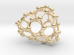 0638 Fullerene c44-10 c1 in 14k Gold Plated Brass
