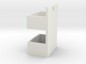 Hanging on the wall of the box in White Natural Versatile Plastic: Medium