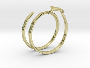 Traveler Ring in 18k Gold Plated Brass: 6.75 / 53.375