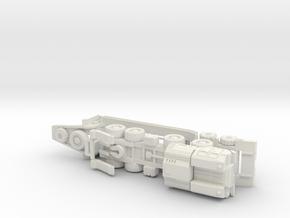 MAZ 543 Tank Transporter 1/144 in White Natural Versatile Plastic