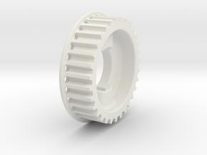 Buri Rear Belt Pulley 31T in White Natural Versatile Plastic