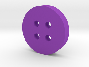 Round Angled Button in Purple Processed Versatile Plastic