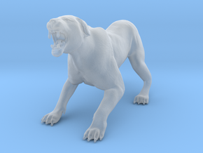 Lion 1:22 Aggressive Lioness in Smooth Fine Detail Plastic