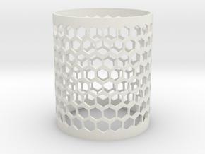 Honeycomb Shim in White Natural Versatile Plastic