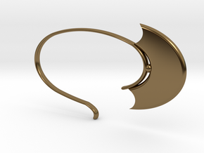Oval Hoop (SWH5a) in Polished Bronze