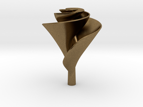 Clockwise Lily Shape Impeller in Natural Bronze