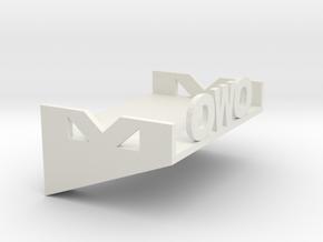 Ledge in White Natural Versatile Plastic: Medium
