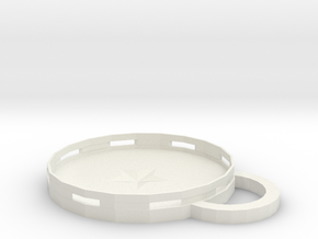 Coaster in White Natural Versatile Plastic: Medium