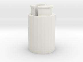 煙灰缸.stl in White Premium Versatile Plastic