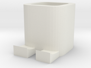 BOX 1 in White Natural Versatile Plastic