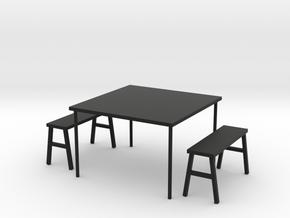 2板凳 in Black Natural Versatile Plastic
