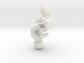 4.8 mm Grip Hand Set for ModiBot in White Natural Versatile Plastic