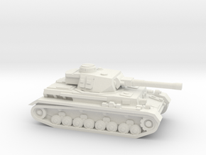 Panzer IV ausf H 1/144, W/O skirts in White Strong & Flexible