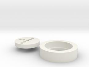 KR Hero Neopixel Adapter in White Natural Versatile Plastic
