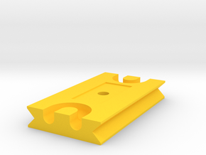 Tetherplate 70mm for DSLR camera's in Yellow Processed Versatile Plastic