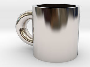 cup in Rhodium Plated Brass