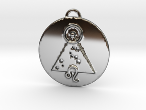 Leo talisman in Fine Detail Polished Silver
