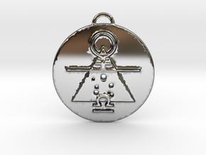 Libra talisman in Fine Detail Polished Silver