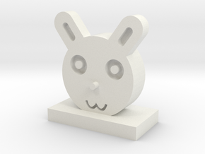 Zodiac rabbit in White Natural Versatile Plastic