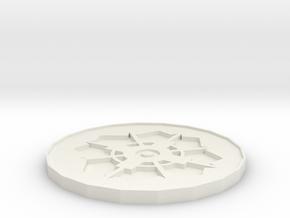 fashion Coaster in White Natural Versatile Plastic