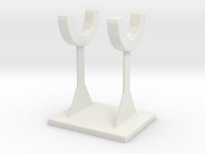 Earmuffs earmuffs rack in White Natural Versatile Plastic