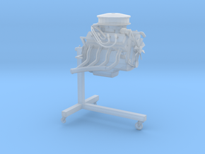 Printle Thing Engine on Stand - 1/24 in Smooth Fine Detail Plastic