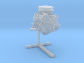 Printle Thing Engine on Stand - 1/35 in Smooth Fine Detail Plastic