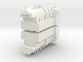 TR Powermaster Prime Shoulder Cannon Fillers in White Natural Versatile Plastic