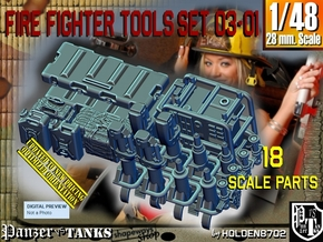 1/48 FireFighter Tools Set03-01 in Smooth Fine Detail Plastic