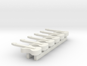 HO scale Guitar 6 pack in White Natural Versatile Plastic
