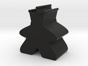 King Meeple in Black Natural Versatile Plastic