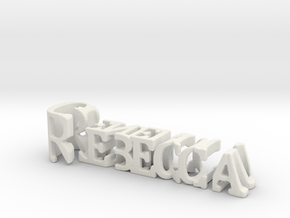 3dWordFlip: Rebecca/Generous in White Strong & Flexible