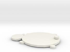 Bear Coaster in White Natural Versatile Plastic