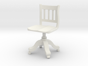 Period Office Chair  in White Strong & Flexible