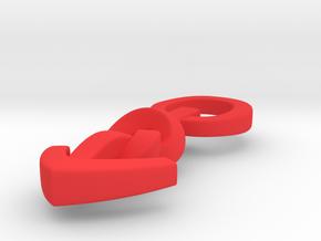 Knotted Mars pendant - original in Red Processed Versatile Plastic