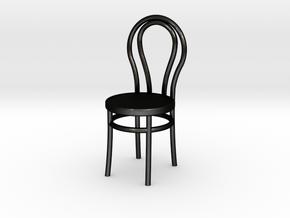 Bentwood Chair in Matte Black Steel
